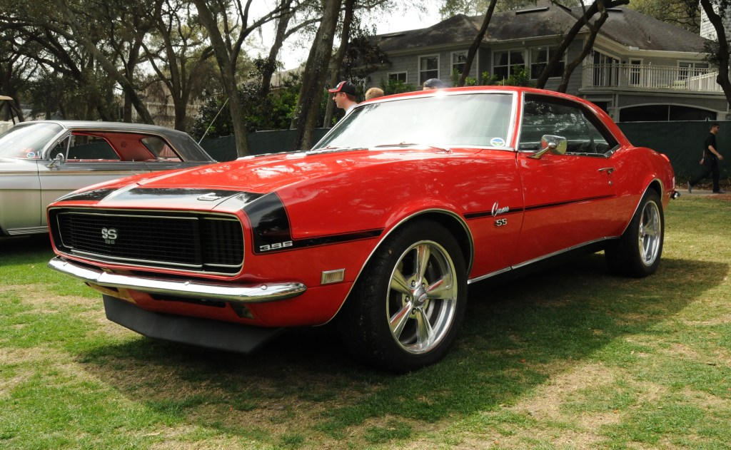 Picture of a red SS Camaro.