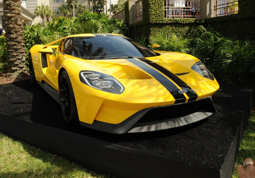 The all-new Ford GT was on display at the 2016 Concours d'Elegance held on Amelia Island.