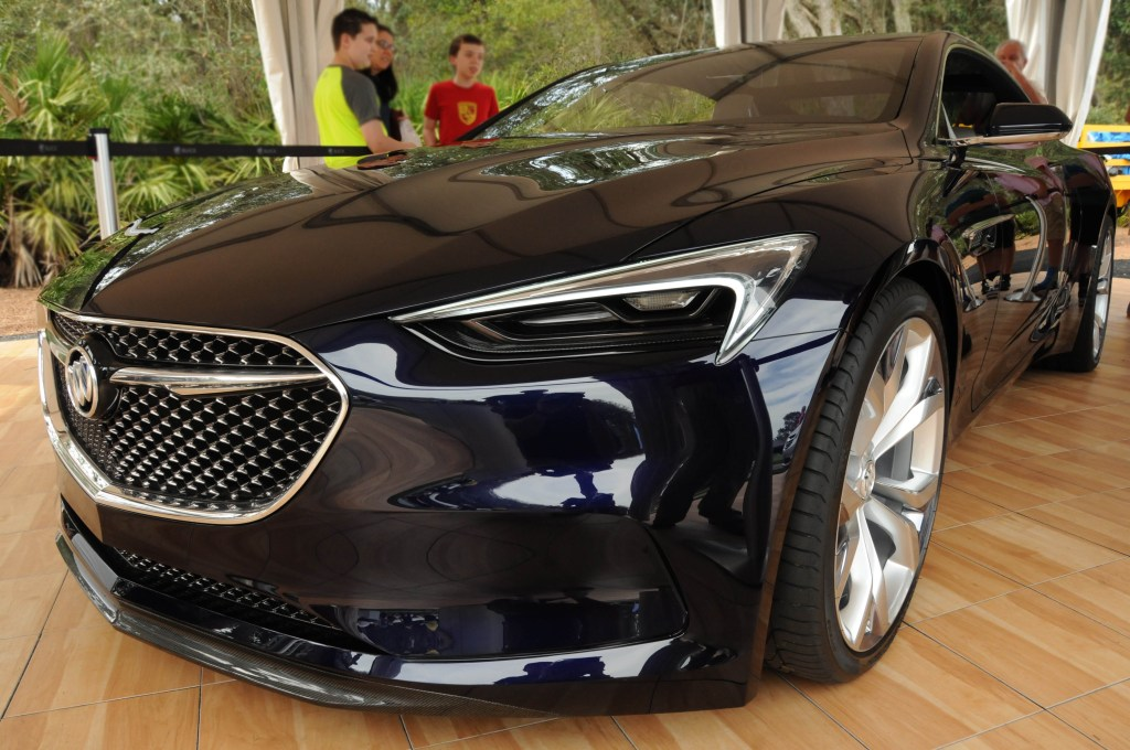 The never-before-seen Buick Avista concept car was unveiled during the 2016 Concours D'Elegance on Amelia Island.