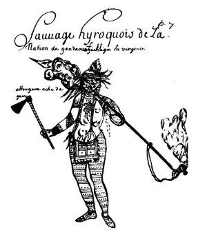 Drawing of Susquehannock Indian circa 1675 (Image from Wikipedia)