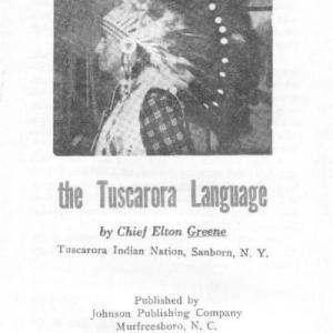 Chief Elton Greene's Tuscarora Dictionary