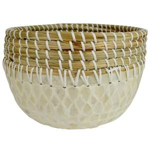 Seagrass & Bamboo Decorative Bowl