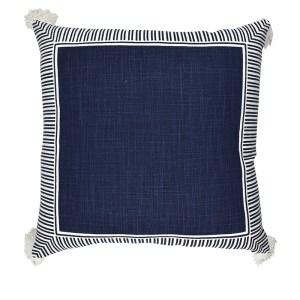Large Navy & White Cushion