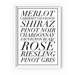 Black & White Wine List