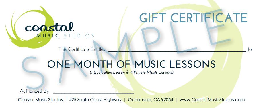 Gift Certificate - Sample