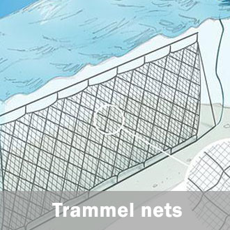 Fishing trammel nets