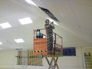 sports hall protection netting
