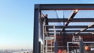 rooftop sports net installation