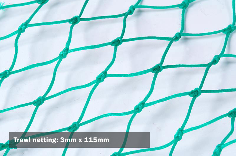 Trawl netting: 3mm x 115mm