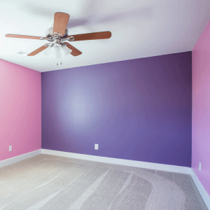 Pink and Purple Painted Bed Room