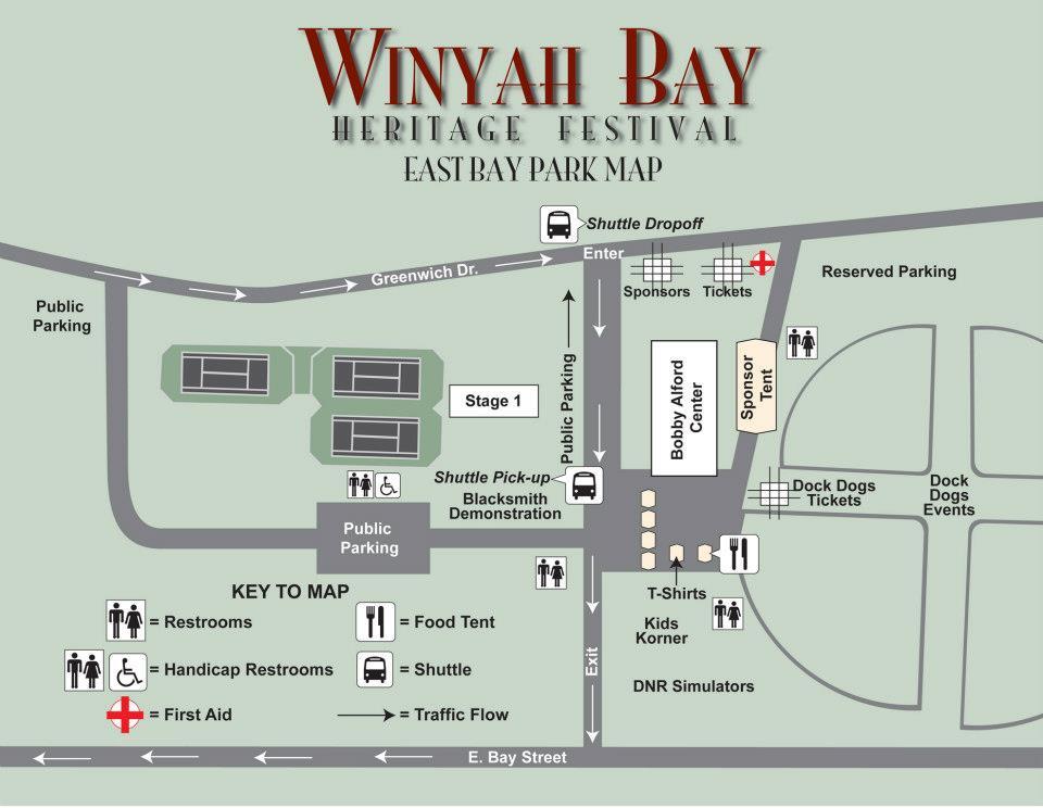 Winyah Bay Heritage Festval Map