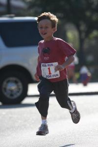 B2B kid running