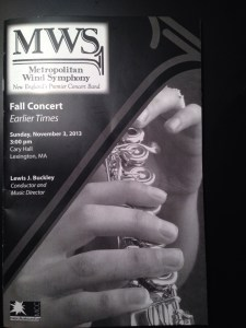 MWS program cover
