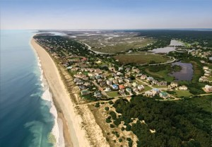 debordieu beach aerial