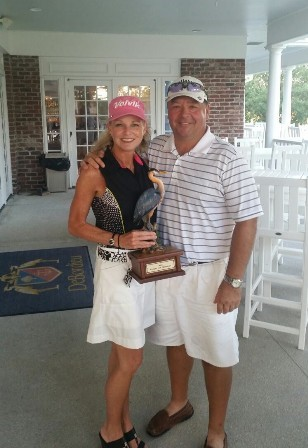 The Heberts Win the Couples Trophy at DeBordieu Club!