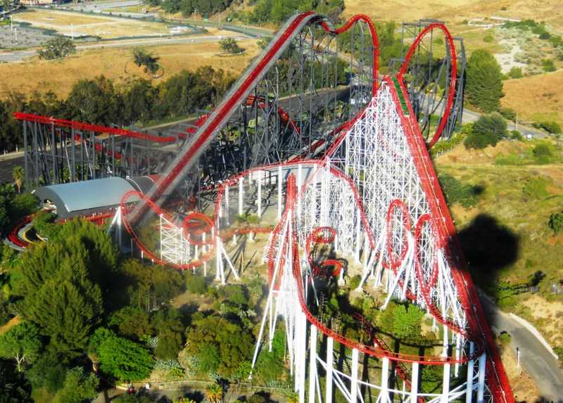 Discover (and save!) your own pins on pinterest California 2010 Six Flags Magic Mountain From The Sky Coaster101