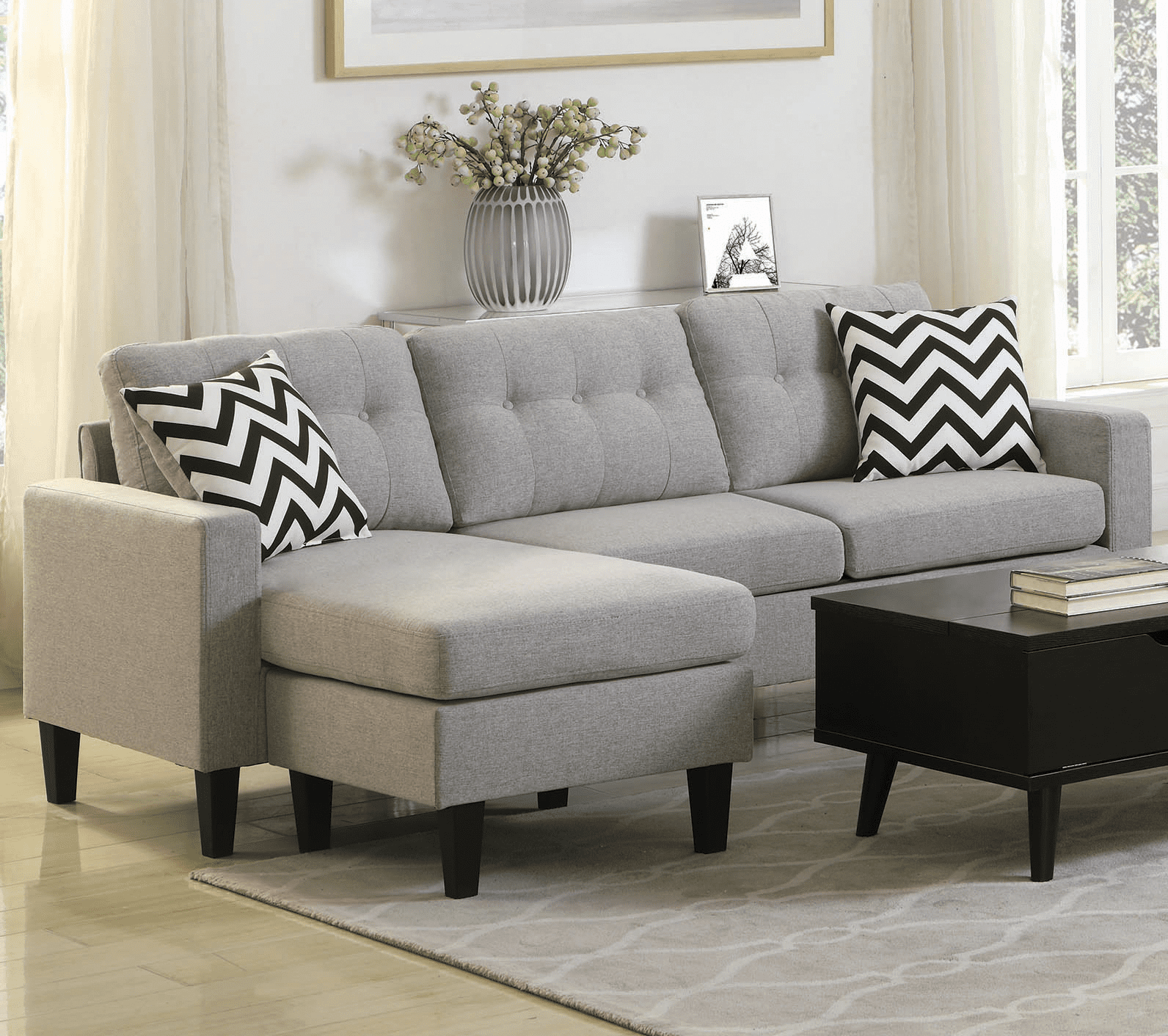 small sectional sofa for a small space