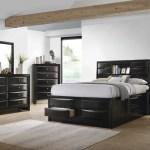 Briana California King Platform Storage Bed Black Coaster Fine Furniture