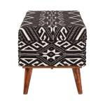 Upholstered Storage Bench Black And White Coaster Fine Fur