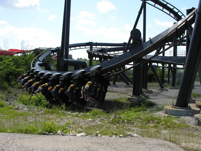 Batman: The Ride at Six Flags St. Louis.