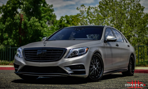 Mercedes Benz S Class w/ Stage 5 Coastline Blackout