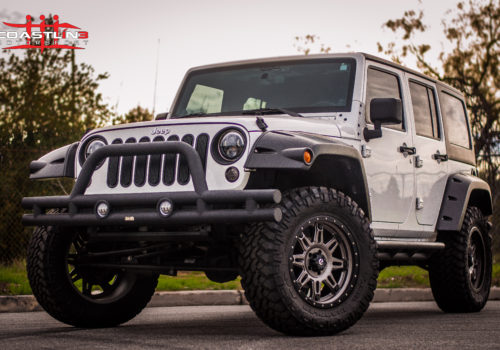 Jeep Wrangler w/ LED Headlights and Bumper Lights