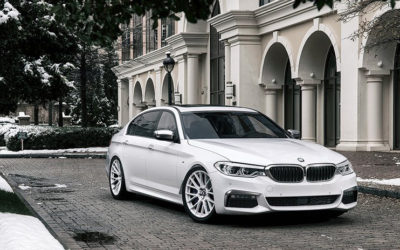 BMW Sedan on Forgiato Flow 001 Wheels