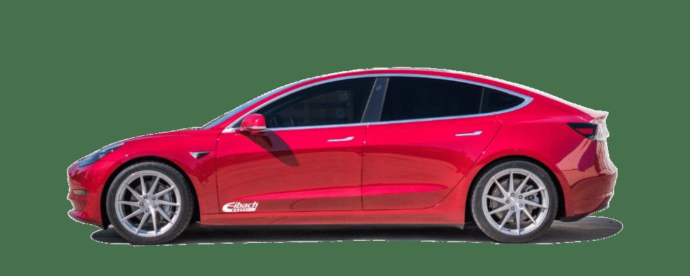 Tesla Model 3 with Eibach Lowering Springs Installed