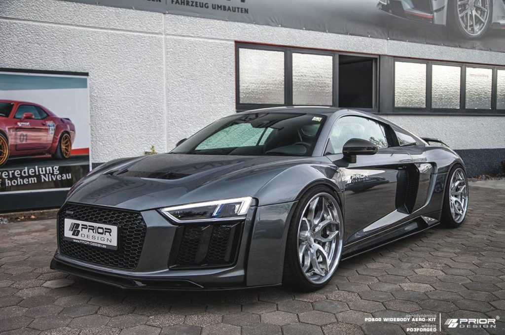 Audi R8 4S PD800WB Aero-kit Front View