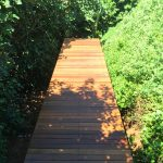 timber walkway to beach