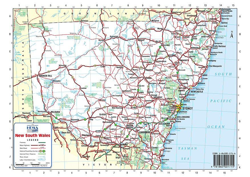 map of australia nsw