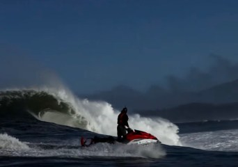 Jet ski by Mavericks wave