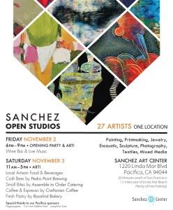 Sanchez Art Center Open Studios~ 27 Artists, 1 Location @ Sanchez Art Center | Pacifica | California | United States