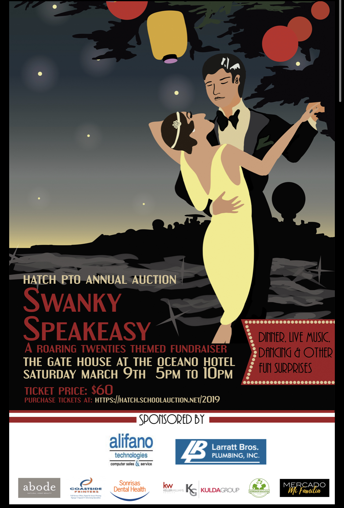 HATCH ELEMENTARY AUCTION - Swanky Speakeasy - Coastside Buzz