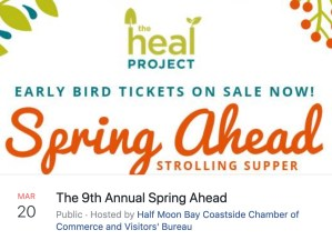 HEAL PROJECT Spring Ahead Strolling Dinner @ NEW Pasta Moon @ New Pasta Moon | Half Moon Bay | California | United States