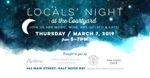 Locals' Night at the Courtyard in HMB ~ Music, Wine, Art, Gelato and Eats! @ The Courtyard on Main Street | Half Moon Bay | California | United States