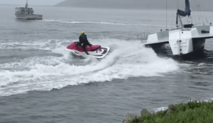Oriental Lady Catamaran Saved by Pillar Point Harbor Crew!