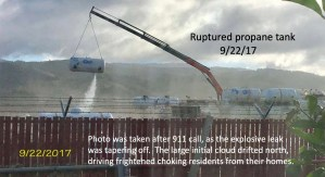 Know the Bulk Propane Facility Had a Ruptured Propane Tank 9/22/17?