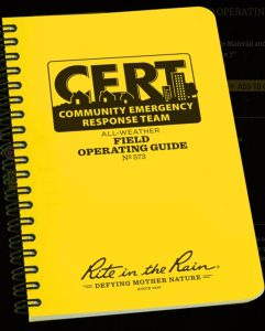 CERT Field Operating Guide is Great for Triage ~ Buy One for Your CERT Bag