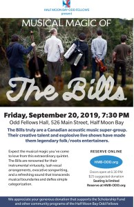 The Bills - Back by Popular Demand! At the Odd Fellows @ Odd Fellows Hall | Half Moon Bay | California | United States