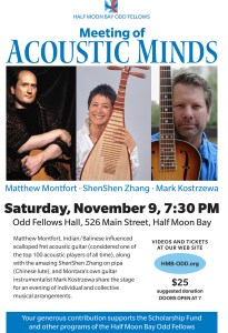 Meeting of Acoustic Minds at the HMB Odd Fellows @ Odd Fellows Hall | Half Moon Bay | California | United States