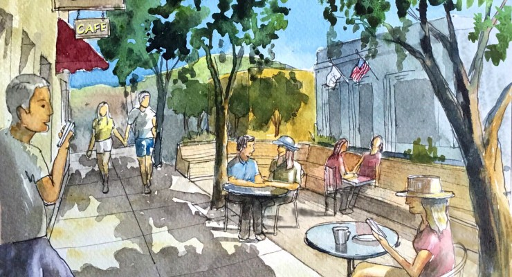 Parklet Pilot Project Approved at Cafe Society on Main Street HMB