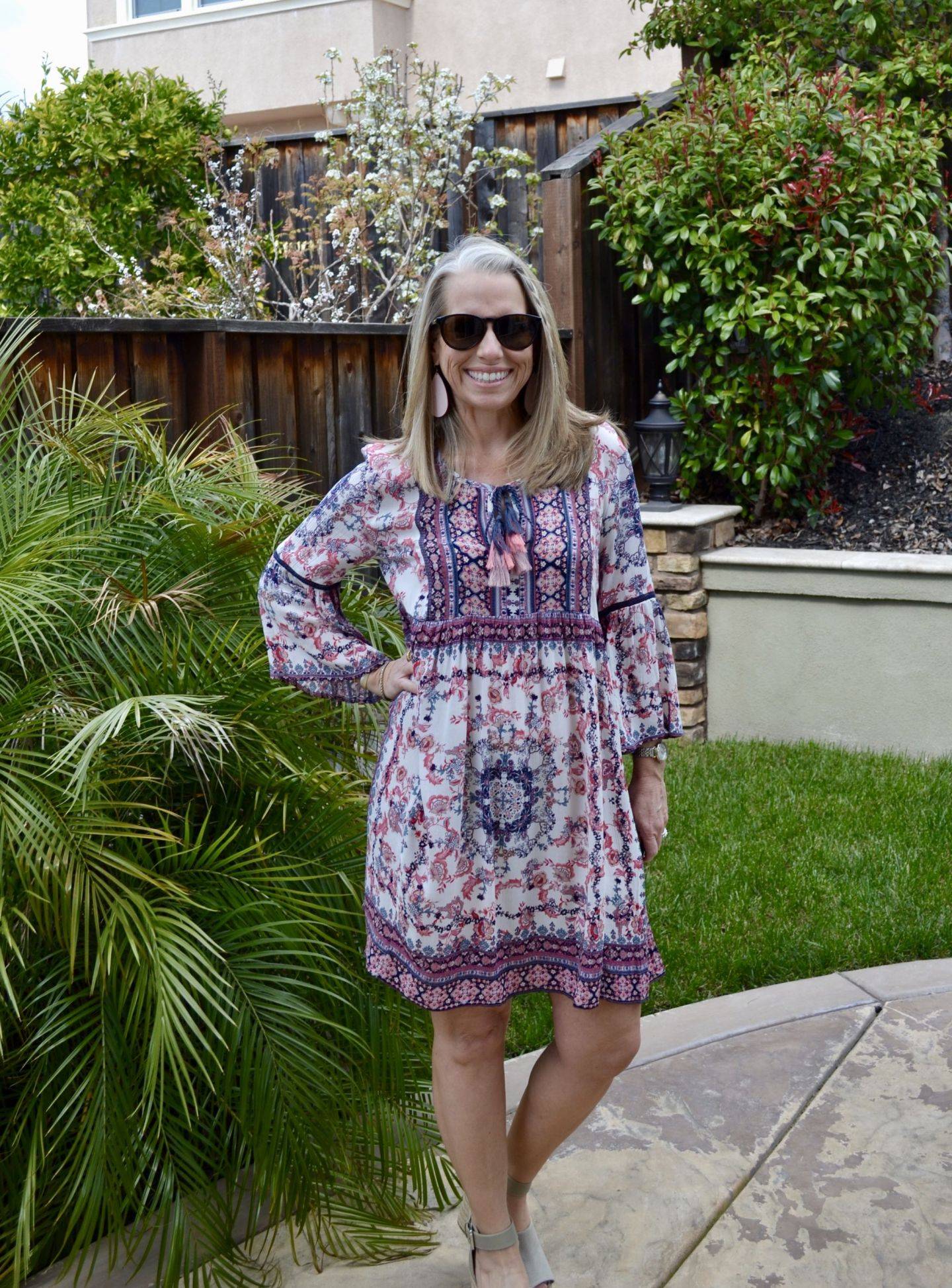 Boho Dress and Affordable Sunglasses