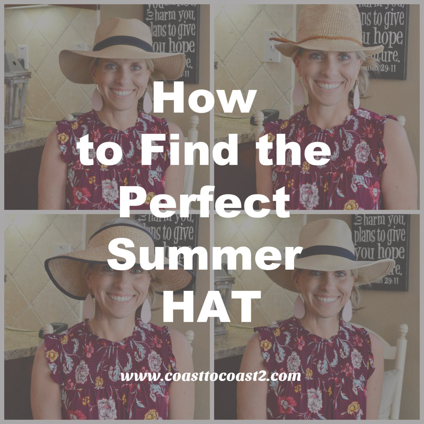 How to find the Perfect Summer Hat