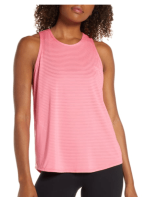 Zella Yogista Sheer Stripe Tank Top