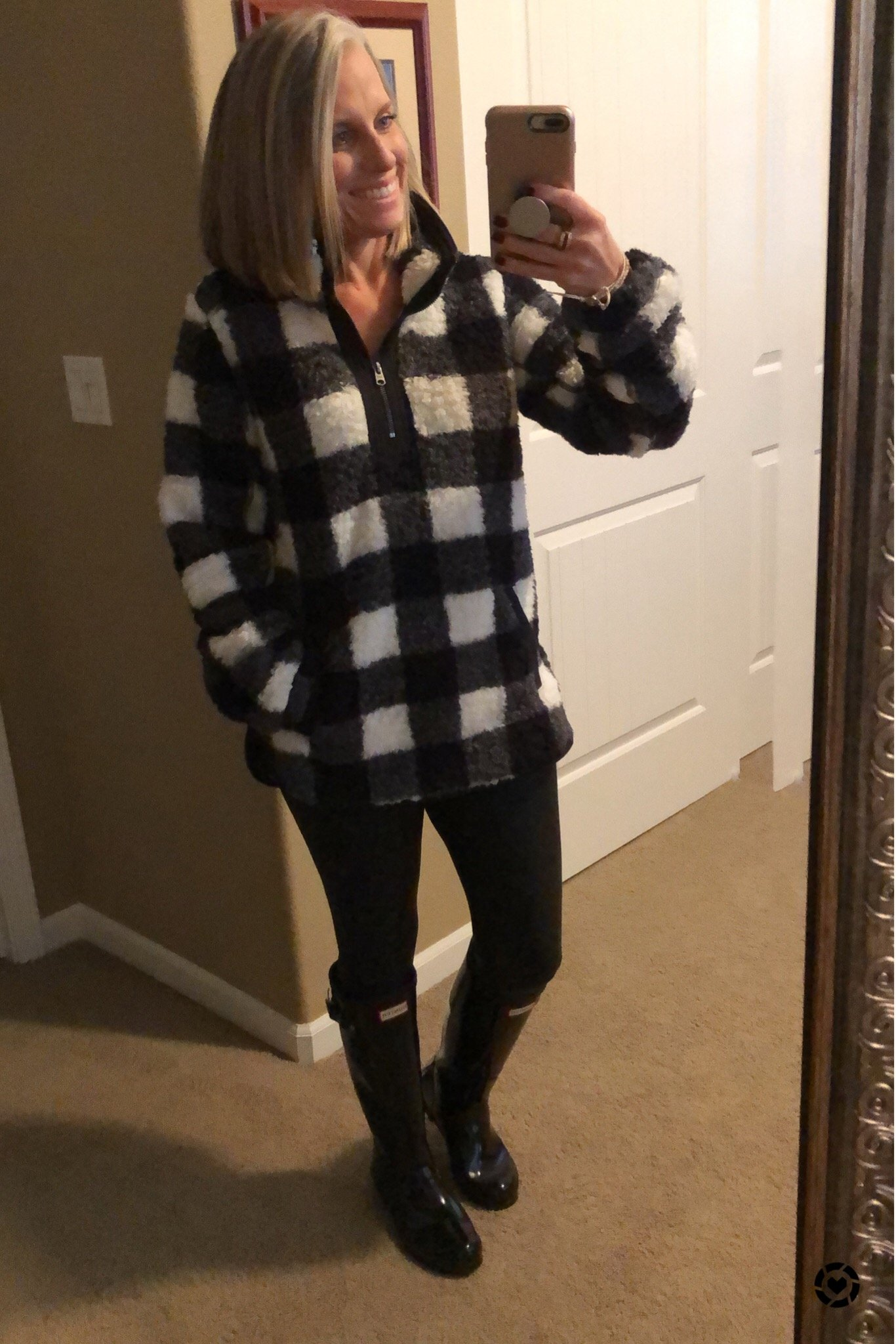 buffalo plaid  sherpa, favorite fall purchases