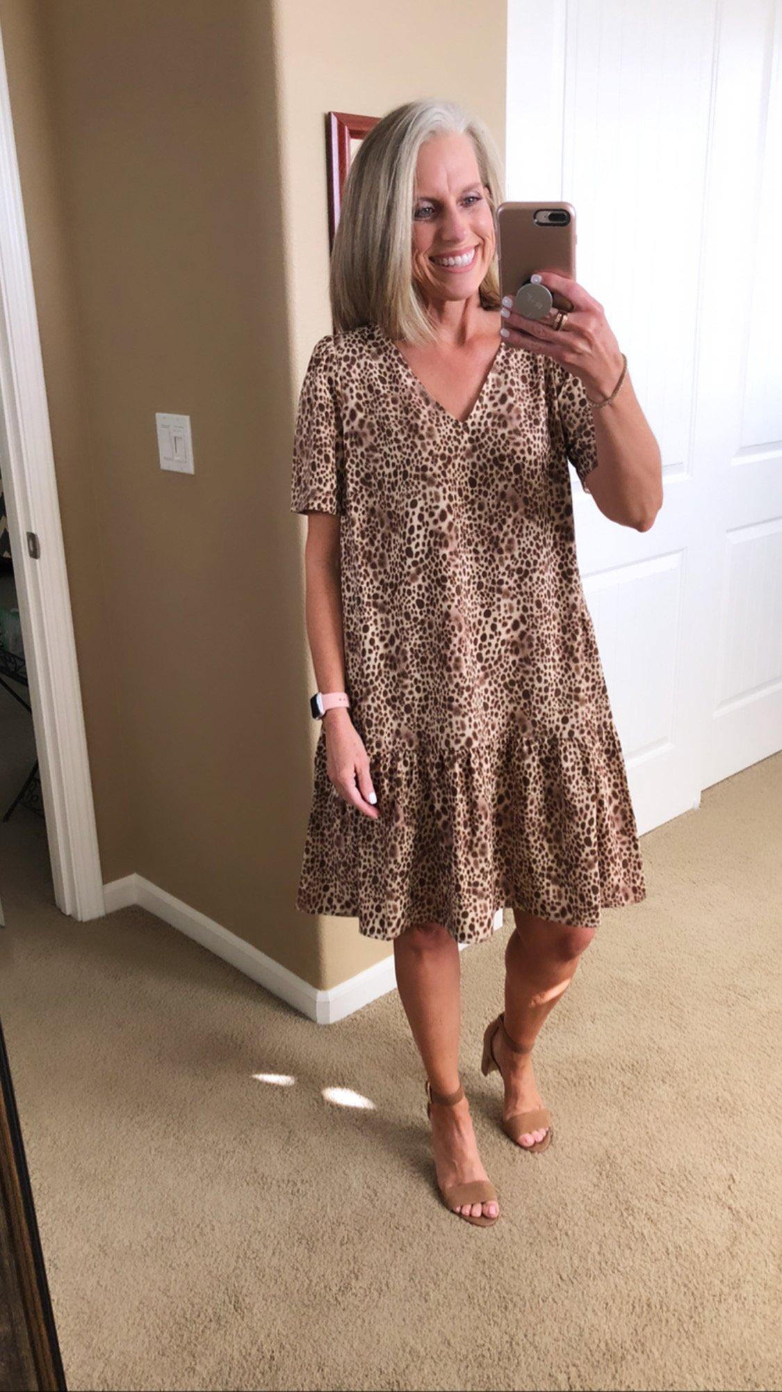 Target animal print dress