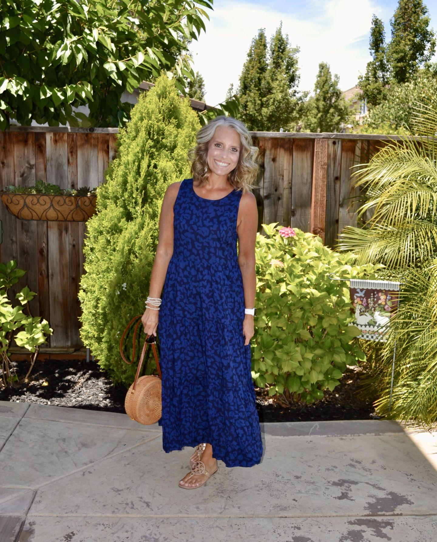 Blue Leopard Dress from Target