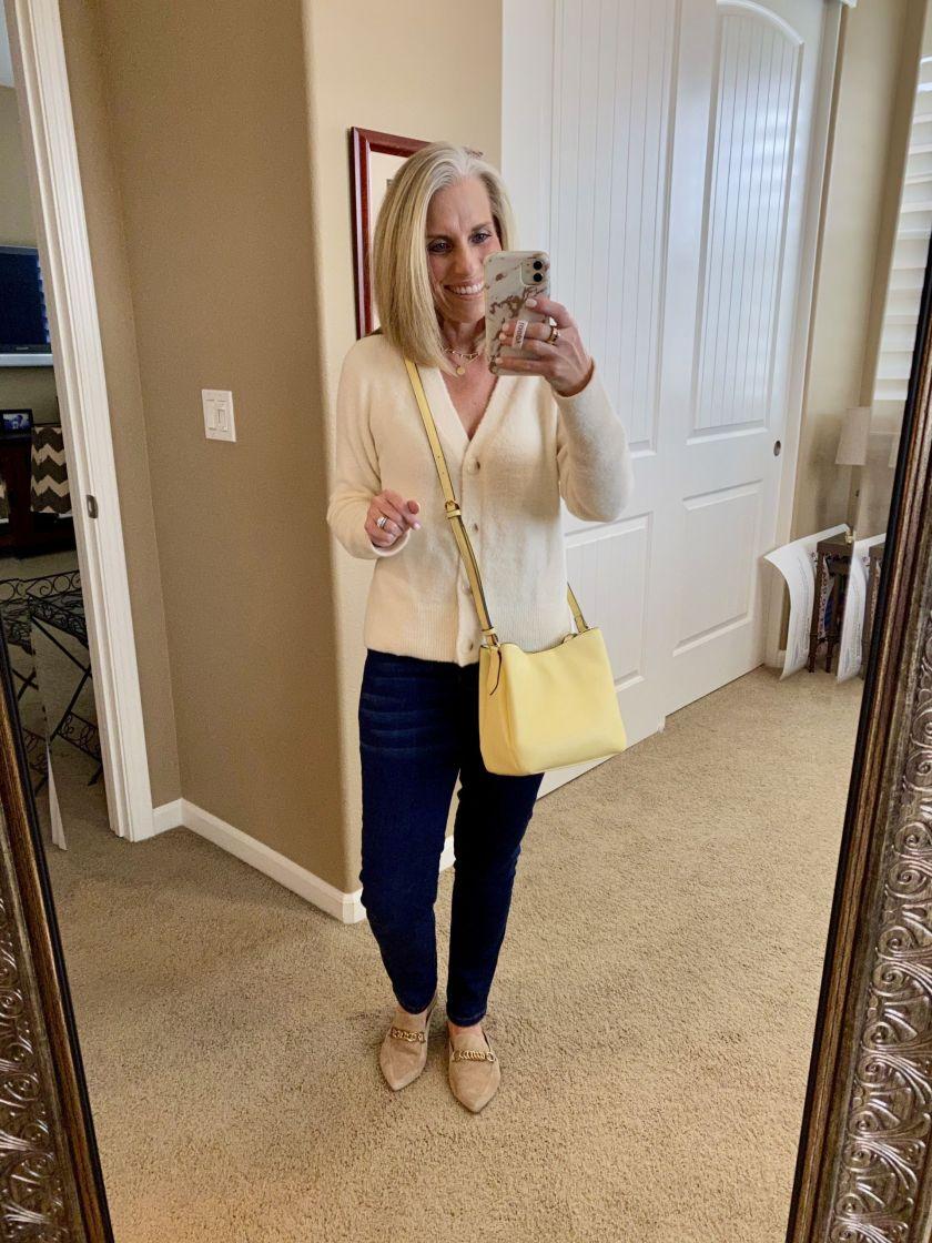 Pantone yellow purse