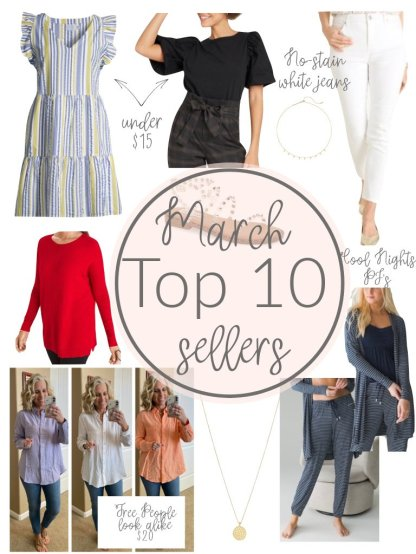March Top 10 Sellers